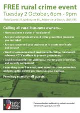 FREE rural crime event