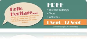 Back to school? Summer holidays a dim and distant memory? Looking to do something for FREE in September?  Look no further than Hello Heritage!